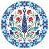 Projeto turco trinta e nove do vetor do teste padrão do otomano antigo Imagem de Stock Royalty Free