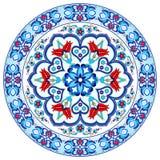 Projeto turco trinta e sete do vetor do teste padrão do otomano antigo Imagens de Stock Royalty Free