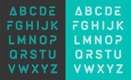 Projeto typeset fonte do alfabeto Fotos de Stock