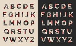 Projeto typeset fonte do alfabeto Imagens de Stock Royalty Free