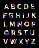 Projeto typeset fonte do alfabeto Foto de Stock Royalty Free