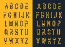Projeto typeset fonte do alfabeto Fotografia de Stock Royalty Free