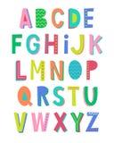 Projeto typeset fonte do alfabeto Imagem de Stock