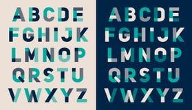 Projeto typeset fonte do alfabeto Imagens de Stock