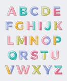 Projeto typeset fonte do vetor do alfabeto Imagens de Stock Royalty Free