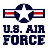 Projeto U da cópia do t-shirt S Força aérea ilustração stock