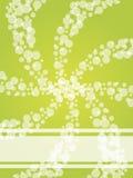 Projeto verde borbulhado do twirl do folheto Fotos de Stock Royalty Free