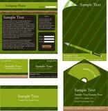 Projeto verde da identidade corporativa ilustração stock