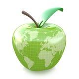 Projeto verde da terra da maçã Foto de Stock