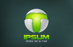 Projeto verde do logotipo do vetor do sumário da tecnologia. Jogo Imagem de Stock