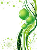 Projeto verde do Natal do vetor fotografia de stock