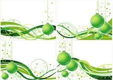 Projeto verde do Natal do vetor Foto de Stock Royalty Free