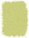 Projeto verde do ponto de polca com flocos de neve. EPS 8 Fotografia de Stock Royalty Free
