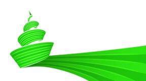 Projeto verde do redemoinho da árvore de Natal Fotos de Stock Royalty Free
