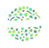 Projeto verde Folhas do verde - fundo Imagens de Stock Royalty Free