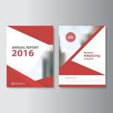 Projeto vermelho do molde do inseto do folheto do folheto do informe anual do vetor, projeto da disposição da capa do livro, mold ilustração royalty free