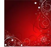 Projeto vermelho do Natal do vetor Fotos de Stock Royalty Free