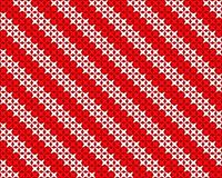 Projeto vermelho e branco feito malha do fundo do vetor Foto de Stock
