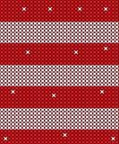 Projeto vermelho e branco feito malha do fundo do vetor Fotos de Stock Royalty Free