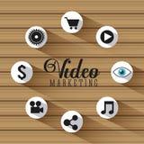 Projeto video do mercado Imagens de Stock