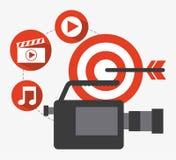 Projeto video do mercado Fotos de Stock Royalty Free