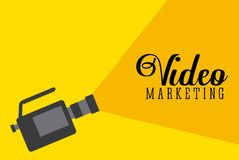 Projeto video do mercado Imagens de Stock Royalty Free