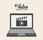 Projeto video do mercado Fotografia de Stock Royalty Free