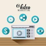 Projeto video do mercado Imagem de Stock