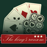 Projeto-vintage-elegante-pôquer-casino do cartão do casino Fotografia de Stock Royalty Free