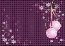 Projeto violeta do Natal do vetor Fotos de Stock Royalty Free