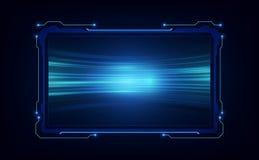 Projeto virtual do sistema futurista futuro abstrato da tela do GUI do ui do hud Ilustra??o EPS10 do vetor ilustração royalty free
