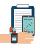 Projeto Wearable da tecnologia ilustração stock