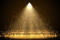 Projetor brilhante com sparkles de incandescência de queda ilustração do vetor
