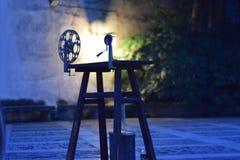 Projetor de película do número um imagem de stock