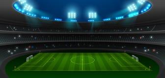 Projetor do estádio de futebol do futebol imagem de stock royalty free