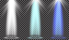 Projetor do vetor Efeito da luz Foto de Stock Royalty Free