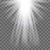 Projetor do vetor Efeito da luz Foto de Stock