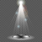 Projetor do vetor Efeito da luz Imagem de Stock