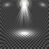 Projetor do vetor Efeito da luz Imagens de Stock
