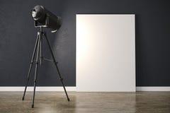 projetor leve do estúdio 3d e quadro da lona ilustração royalty free