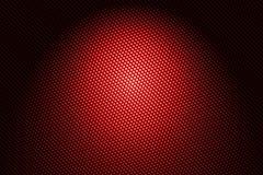 Projetor na fibra vermelha do carbono Imagens de Stock