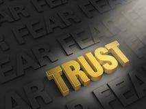Projetor no medo da confiança não ilustração stock