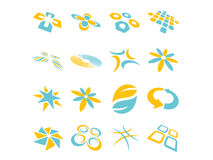 Projetos abstratos do logotipo do vetor Fotos de Stock