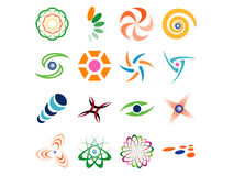 Projetos abstratos do logotipo do vetor Fotografia de Stock Royalty Free