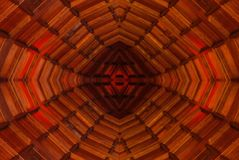 Projetos abstratos modernos da arquitetura do teto vermelho imagem de stock royalty free