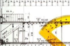 Projetos arquitectónicos dos desenhos Imagem de Stock Royalty Free