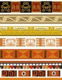 Projetos astecas do teste padrão ilustração do vetor