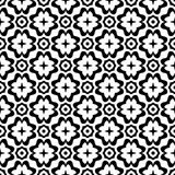 Projetos brancos pretos da repetição do vetor Fotografia de Stock