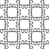 Projetos brancos pretos da repetição do vetor Imagem de Stock