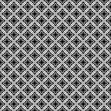 Projetos brancos pretos da repetição do vetor Foto de Stock Royalty Free